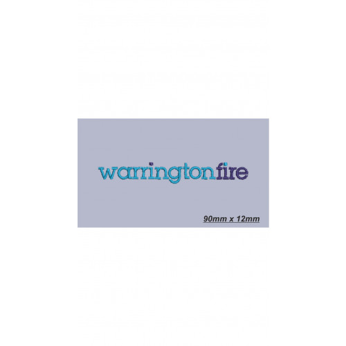 Commission Embroidery Left Breast - Warrington Fire