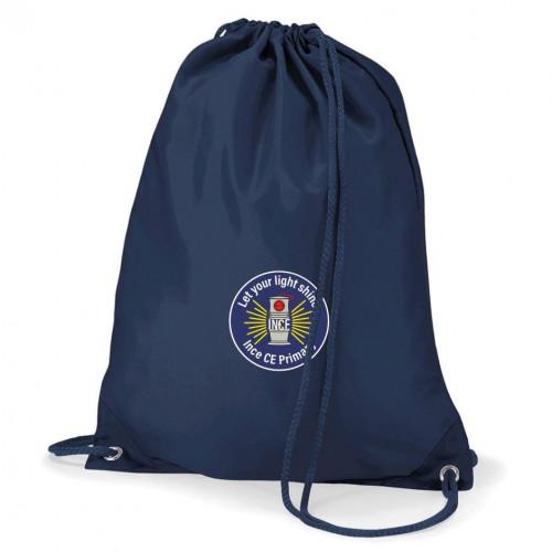 Ince CE Primary School PE Bag Navy
