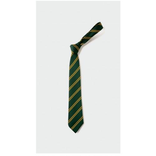 Locking Stumps School Tie Green/Gold - Standard