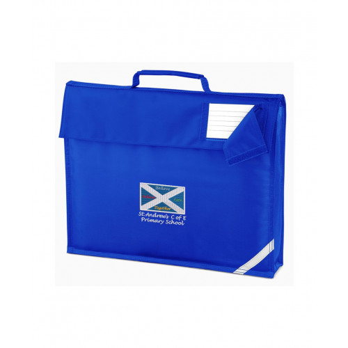 St Andrews Warrington School Book Bag - Hand Held Royal