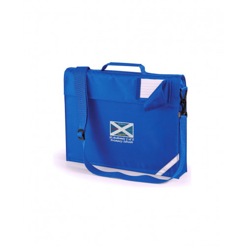 St Andrews Warrington School Book Bag - Shoulder Strap Royal